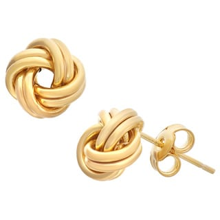Gioelli 10k Gold Love Knot Stud Earrings