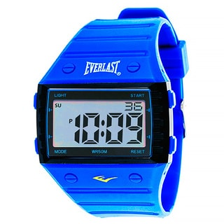 Everlast Sport Men's Square Watch with Blue Rubber Strap