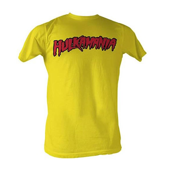 Yellow Hulk Hogan Hulkamania T-shirt