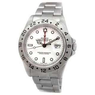 Pre-Owned Rolex Men's 16570 Explorer II Stainless Steel Watch.