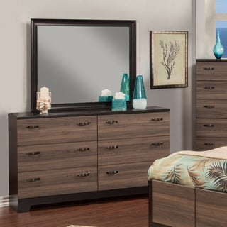 Sandberg Furniture Nova Dresser and Mirror