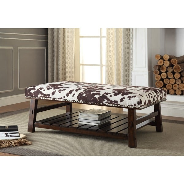 Christopher Knight Home Howes Bluff Brown and White Cocktail Bench