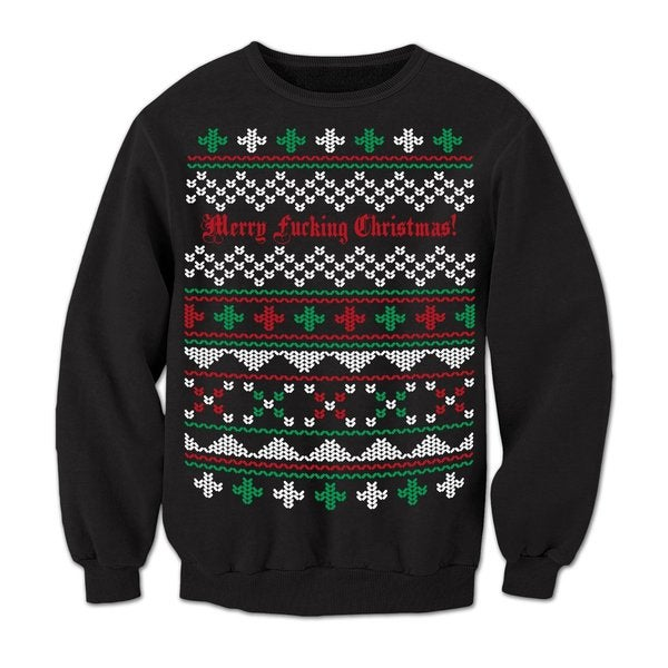 Black 'Merry F*cking Christmas' Ugly Sweater