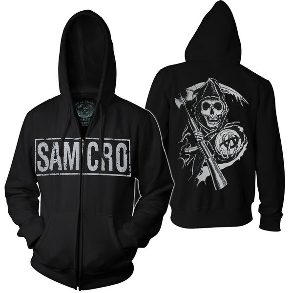 Black Sons of Anarchy SAMCRO Full-zip Hoodie