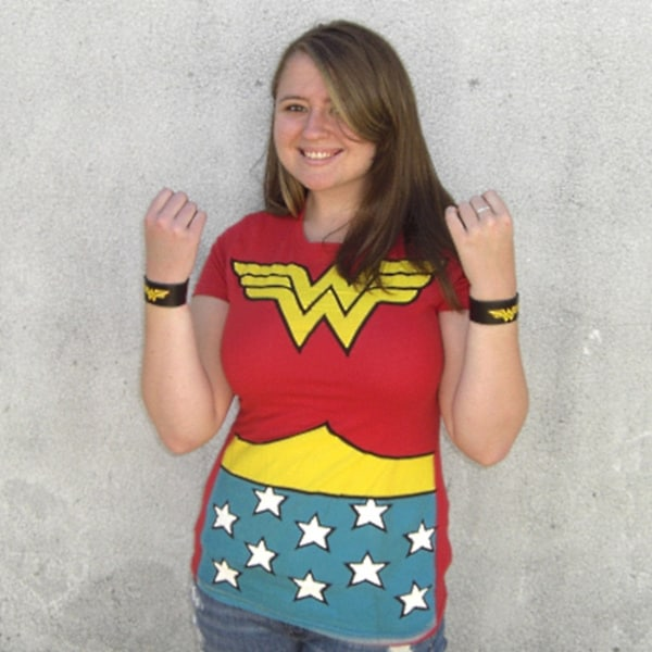 Wonder Woman Comic Book Superhero Uniform T-shirt Costume