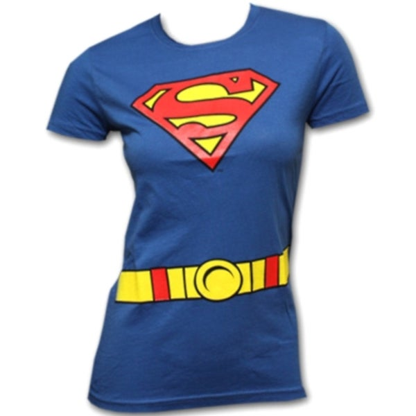 Women's Supergirl Superhero T-shirt Costume