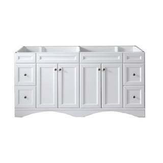 Virtu Talisa 72-inch Double Sink White Vanity Cabinet Only