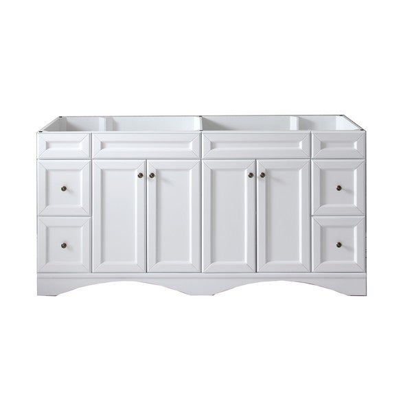 virtu talisa 72 inch double sink white vanity cabinet only