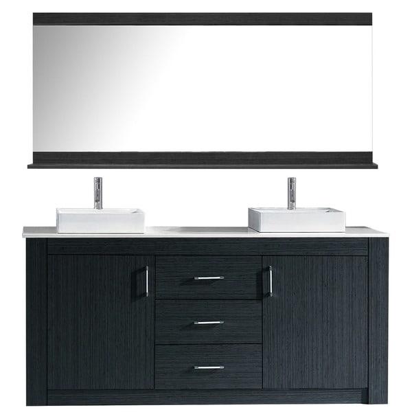 72 Inch Double Bathroom Vanities Gray