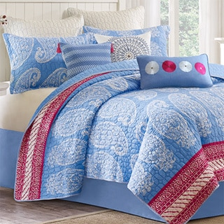 EchoDesign King 100-percent Cotton Quilted Coverlet