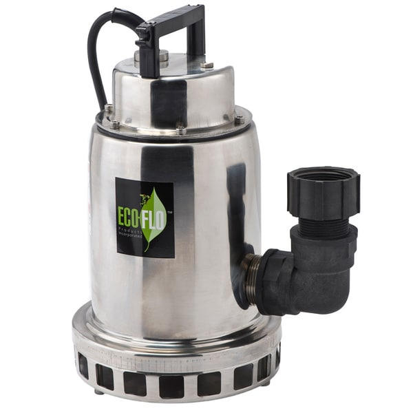 ECO-FLO Products SEP75M 3/4 HP Manual On/Off Stainless Steel Fountain Utility Pump
