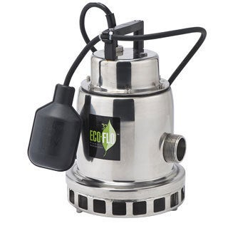 Eco-Flo SEP33W 1/3 HP Stainless Steel Fountain Utility Pump-Wide Angle Switch