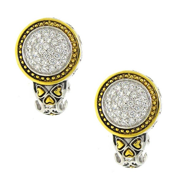 Goldplated Sterling Silver Cubic Zirconia Circle Earrings