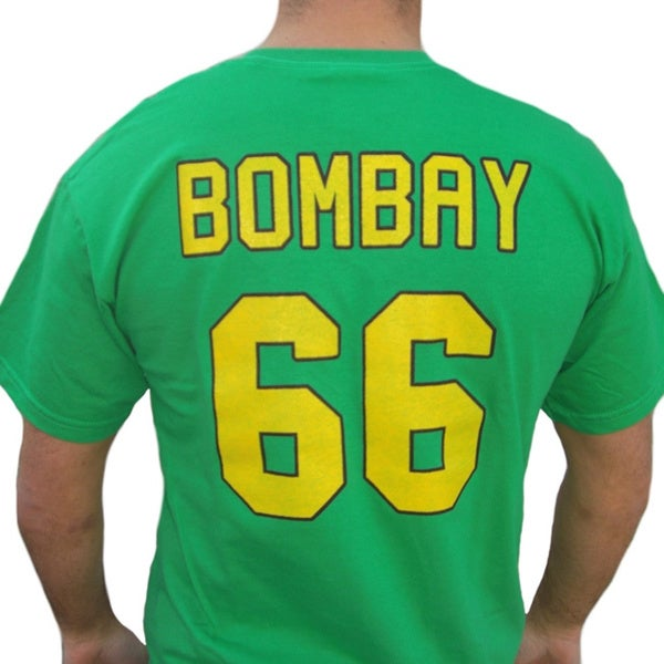 Ducks Coach Gordon Bombay 66 Movie Jersey Green T-shirt