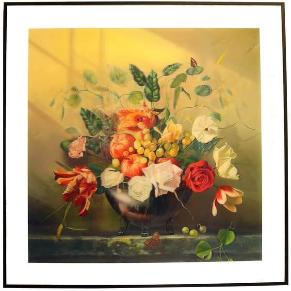 Tableside Flowers 3D Picture with Aluminum Frame