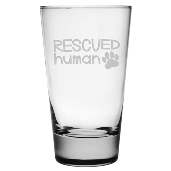 Rescued Human 15.5-ounces Hiball Glasses (Set of 4)