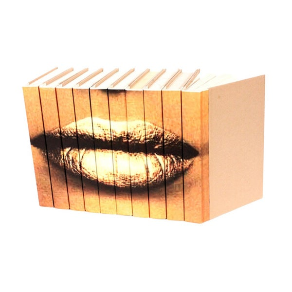 Lips Gold Decorative Books (Set of 10)