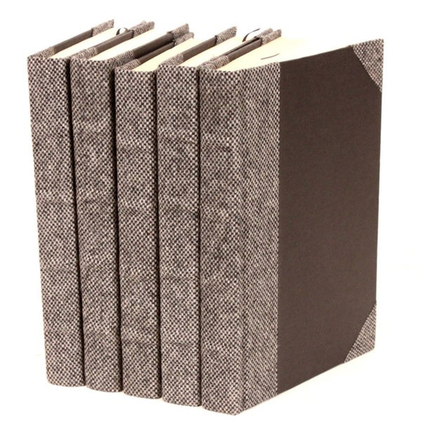 Bespoke Grey Suit Decorative Books (Set of 5)