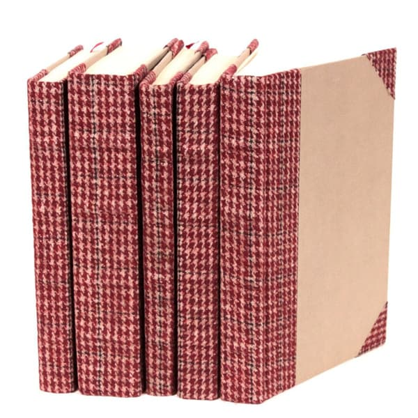 Bespoke Red Tartan Decorative Books (Set of 5)