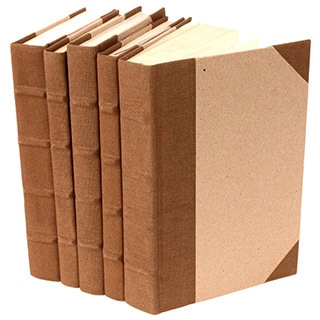 Canvas Collection Brown Decorative Books (Set of 5)