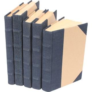 Canvas Collection Denim Decorative Books (Set of 5)