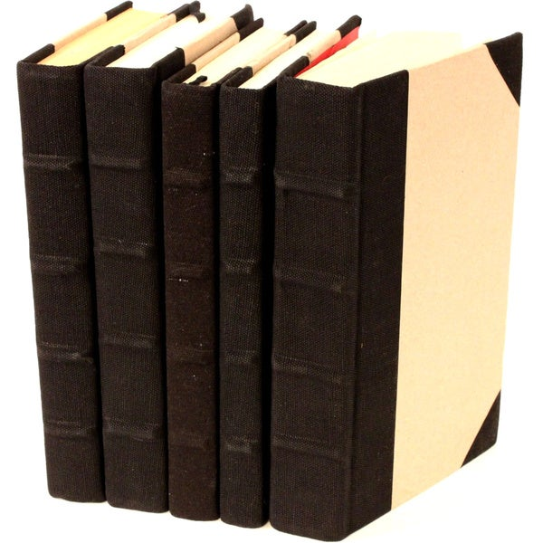 Canvas Collection Black Decorative Books (Set of 5)