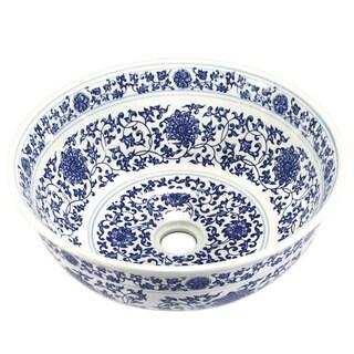 Legion Furniture Sink Bowl Floral Porcelain