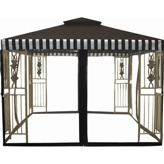 10'x10' Two Tier Gazebo with La Fluer Cast Iron Inserts