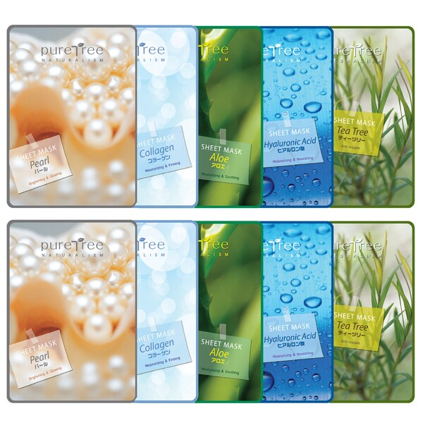 Pure Tree Facial Mask Sheet Type Facial Mask (Pack of 10)