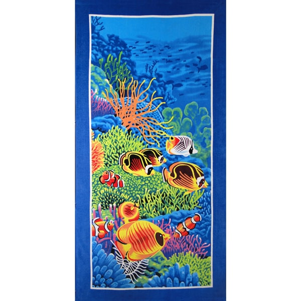 Baltic Linen Coral Reef 100-Percent Cotton Beach Towel