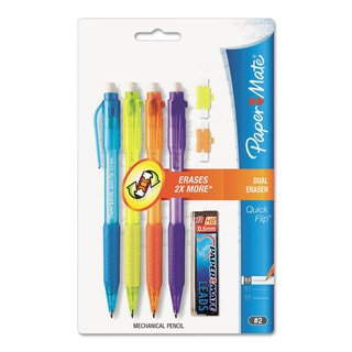 Paper Mate Quick Flip 0.5-mm Blue/ Orange/ Purple/ Yellow Barrel Mechanical Pencils (4 Packs of 4)