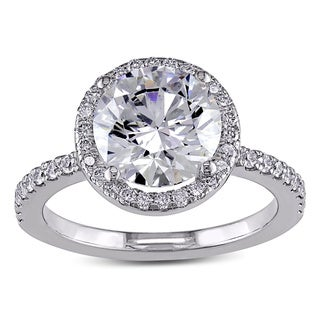 Miadora Signature Collection 19k White Gold 2 2/5ct TDW Certified Diamond Engagement Ring (G, SI2, GIA)