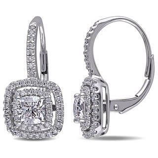 Miadora 14k White Gold 1 1/2ct TDW Diamond Earrings (G-H, I1-I2)