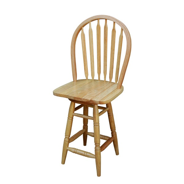 Simple Living Natural Arrowback Swivel Counter Stool