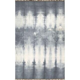 Flat Weave Oriental Pattern Grey/ Black Wool Area Rug (2' x 3')