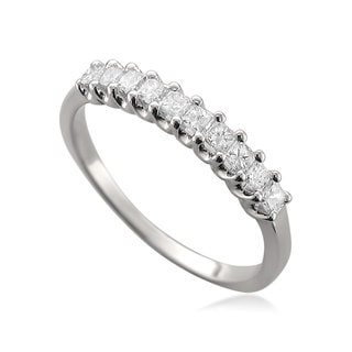Brides Across America 14k White Gold 1/2ct TDW Princess-cut Diamond Wedding Band (H-I, I1-I2)