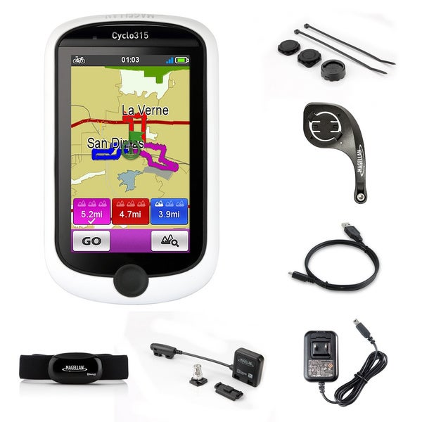 Magellan Cyclo 315HC GPS Cycling Computer with Heart Rate Monitor