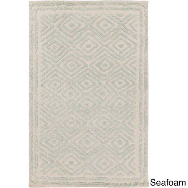 Surya Atlas Hand Woven Pink Wool Rug, 8' x 11' 14717088
