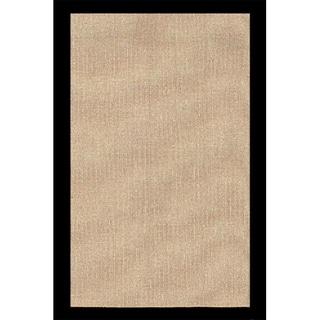 Solid Jute Border Black Rug (3'6 x 5'6)