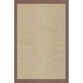 Grand Bazaar Solid Jute Border Brown Rug (3'6 x 5'6)