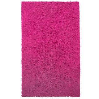 Chenille Shag Pink Rug (4' x 6')