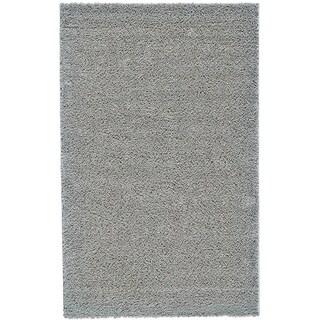 Grand Bazaar Everyday Shag Light Grey Rug (5' x 8')