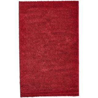 Everyday Shag Red Rug (5' x 8')