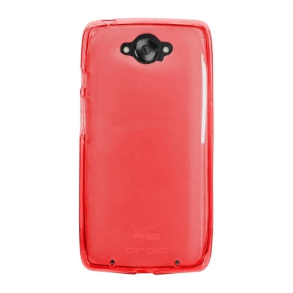 INSTEN Red TPU Rubber Candy Skin Snap-on Phone Case Cover For Motorola Droid Turbo