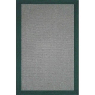 Grand Bazaar Solid Jute Border Green Rug (1'6 x 2'6)