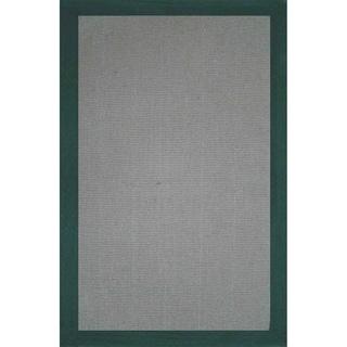 Grand Bazaar Solid Jute Border Green Rug (1'8 x 2'10)