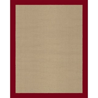 Grand Bazaar Solid Jute Border Red Rug (1'8 x 2'10)