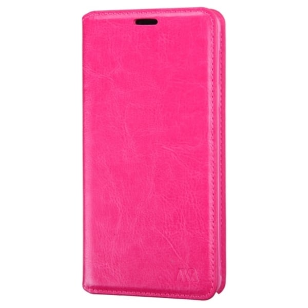 INSTEN Hot Pink Leather Fabric Folio Wallet Phone Case Cover with Stand/ Card Slot For Samsung Galaxy Note 4
