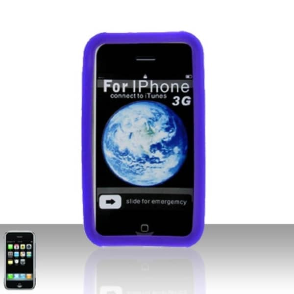 INSTEN Soft Silicone Gel Rubberized Matte Snap-on Phone Case Cover For Apple iPhone 3G/ 3GS