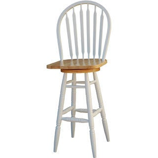 Simple Living White Arrowback Swivel Bar Stool